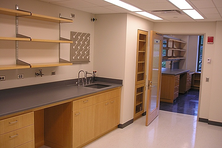 SUPPORT LAB ROOM WITH FIXED CASEWORK
